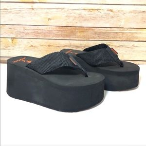 Rocket Dog Webbing black Platform Sandals 8 New